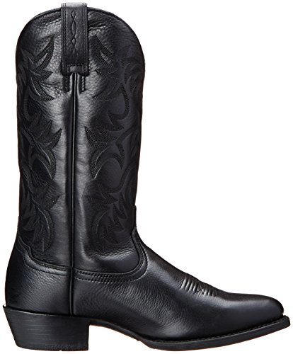 Ariat Mens Heritage R Toe Western Cowboy Boot Nero Cervo Tan