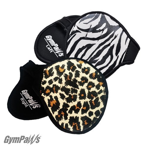 GymPaws Leather Lifting Grip Workout Glove Alternative Cheetah/Zebra