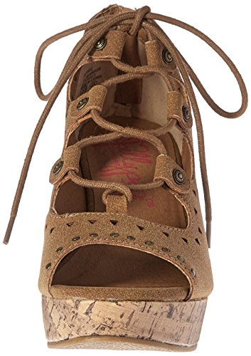 bronceado Jellypop Women Tan 's 5 April 6 Sm M Suede SM Wedge Suede Sandal US qq4gwr7