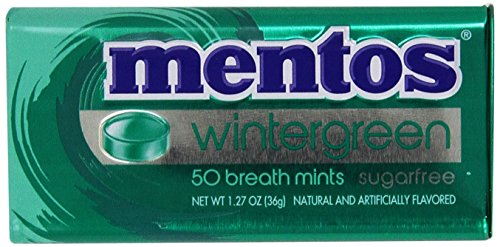 Mentos Breath Mints Sugarfree Wintergreen - 50 CT