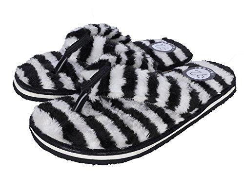 92 MILES Men's Black &White Flip Flops Thong Sandals-7 UK/India (41 EU) (VMFUR BLWT-M-7) (B079FVJVTG) Amazon Price History, Amazon Price Tracker
