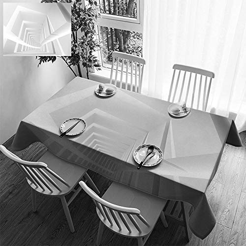 Sturbridge Light 6 (HOOMORE Simple Color Cotton Linen Tablecloth,Washable, 3D Corridor Interior with Light Beams Decorating Restaurant - Kitchen School Coffee Shop Rectangular 54×39in)