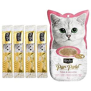 Kit-Cat Purr Puree Tuna & Salmon Wet Cat Treat Tubes 4x15g