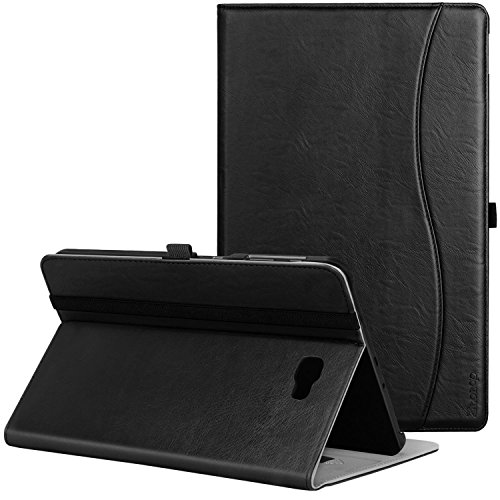 Samsung Galaxy Tab A 10.1 Case - Ztotop Leather Folio Case Cover for Samsung 10.1 Inch Tablet SM-T580 T585(2016 NO S Pen Version) with Auto Wake/Sleep and Card Slots, Multiple Viewing Angles, Black
