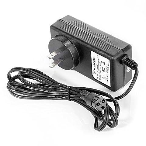 [Extra Long 6.5 Feet Power Cable] Intocircuit 24V 1.5A Smart Scooter Battery Wall Charger for RAZOR E100 E125 E150 E200 E300