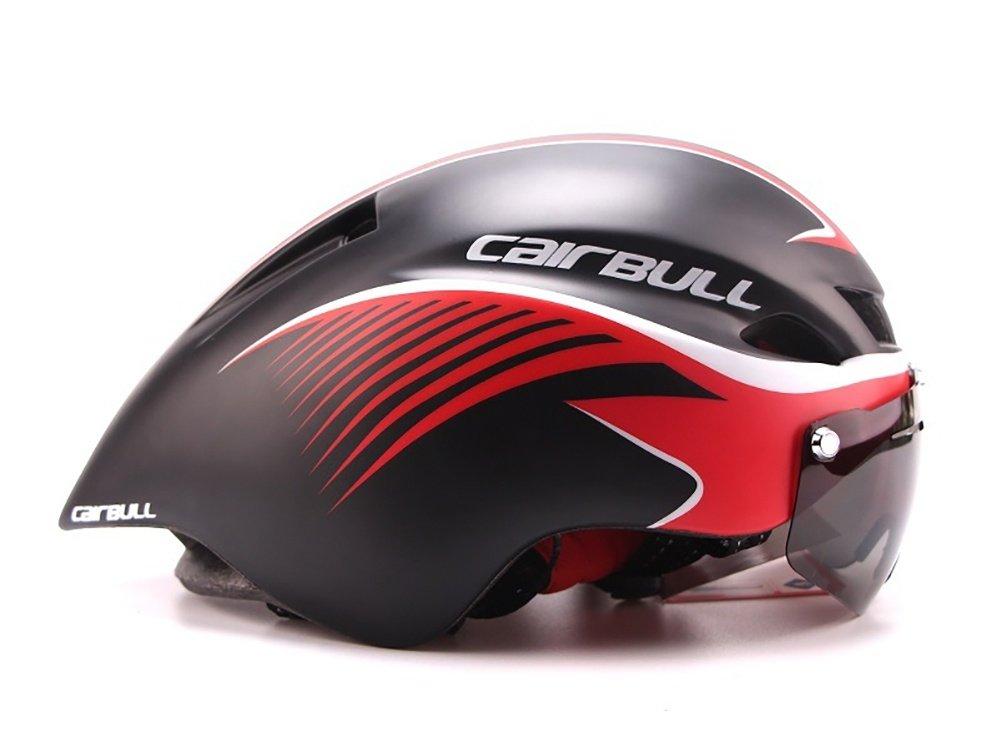 TOUK Männer/Frauen Fahrradhelm Goggles Bike Racing Helm mit Brille Einstellbare Rennrad Helm