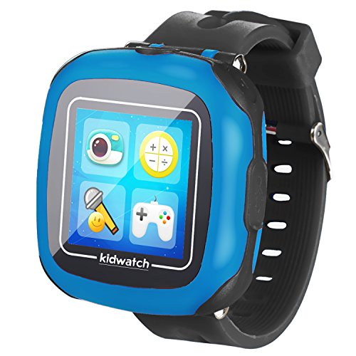 GBD Kids Game Watch,1.5'' Touch Smart Watches for Summer Birthday Gifts Travel Camping Kids Boys Girls with Pedometer Camera Alarm Clock Electronic Learning Toys (01Black)