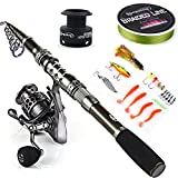 Sougayilang Spinning Fishing Rod and Reel Combos Portable Telescopic Fishing Pole...