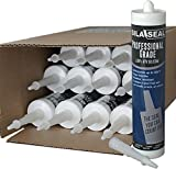 SILA-SEAL Black Professional Grade 100% RTV Silicone with reclosable nozzle, (case of 12)