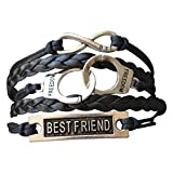 Infinity Collection Friends Leather Bracelets