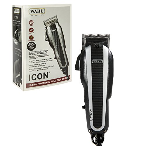 Wahl Professional Icon Clipper #8490-900 – Ultra Powerful Full Size Clipper – Great for Barbers and Stylists – Features Cool Running v9000 Motor ()