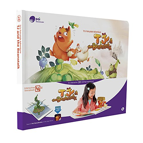 Pai Storybook 3D Fairy Tales for Children's Book, TJ & the Beanstalk, Hardcover