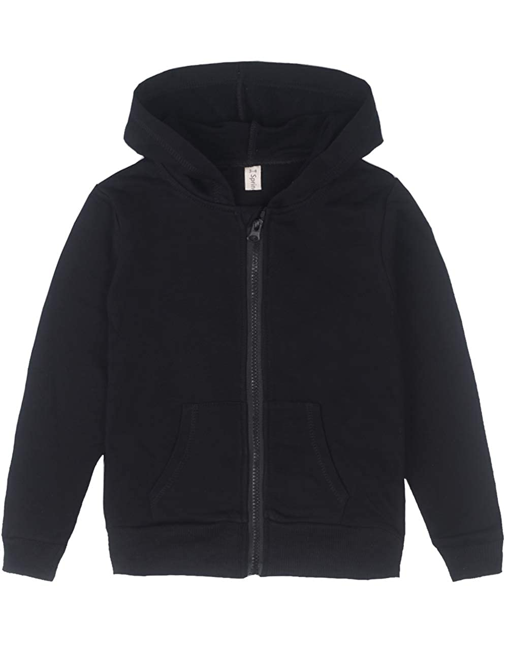 Spring&Gege Youth Solid Classic Hoodies Soft Hooded Sweatshirts for Children (3-12 Years) 51mUi4cbK9L