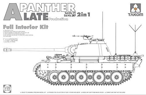 (TAK02099 1:35 Takom Sd.Kfz.171/267 Panther A Late Production 2in1 (Full Interior Kit) [MODEL BUILDING KIT])