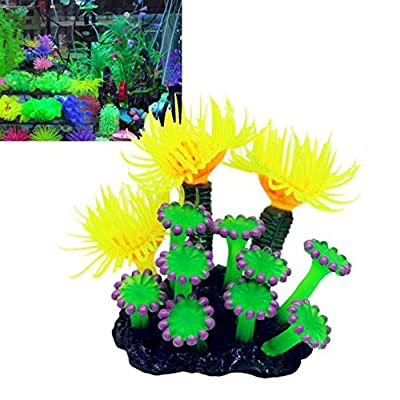 Hemgk Realistic Aquatic Coral Craft, Soft Artificial Resin Coral Fish Tank Aquarium Decorations, Lovely Simulation Resin Sea Urchin, Convenient and Easy to Use, for Fish, for Ponds, Indoor : Garden & Outdoor