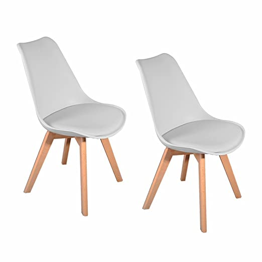 Juego de 2 Tulip - Silla de comedor oficina silla con patas ...