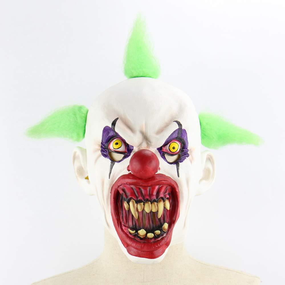 Circlefly Segreto di casa stregata di Halloween orrore pagliaccio maschera Ostello vestire horror parrucca prop sangue bocca maschera clown