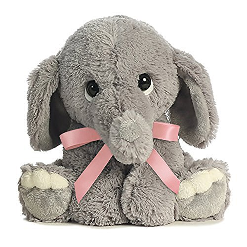 Lil Benny Phant Ellas Bundle of Joy Plush - Grey Elephant with Pink Ribbon