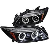 Spec-D Tuning Scion tC 2004 2005 2006 2007 LED Halo Projector Headlights - Black