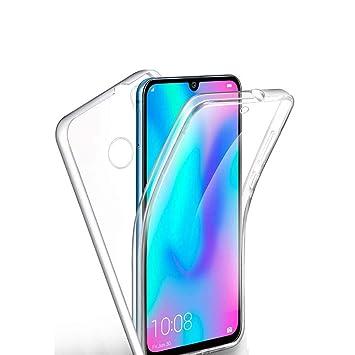 TVVT Compatible con Funda Huawei P Smart 2019, Ultrafino Transparente Protectora 360 Grados Integral Carcasa Ultraligero Suave Silicona TPU Bumper ...