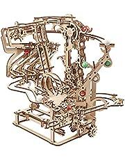 UGEARS 3D Puzzel knikkerbaan van hout - knikkerkettingbaan - doe-het-zelf speelset - houten knikkerbaan - modelbouwpakket voor volwassenen - knikkerbaan van hout - kinetische sculptuur 3D houten puzzel - constructiespeelgoed