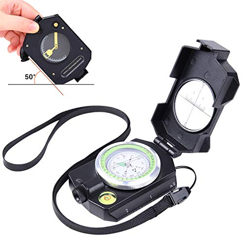 Sportneer Lightweight Military Lensatic Sighting Compass with Inclinometer and Carrying