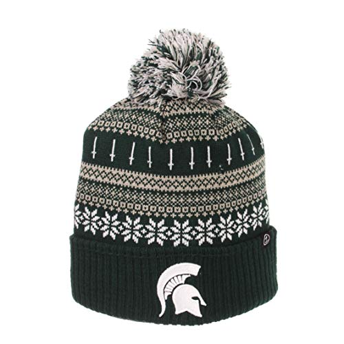 ZHATS NCAA Michigan State Spartans Unisex Carouselcarousel Knit, Forest Green, One Size