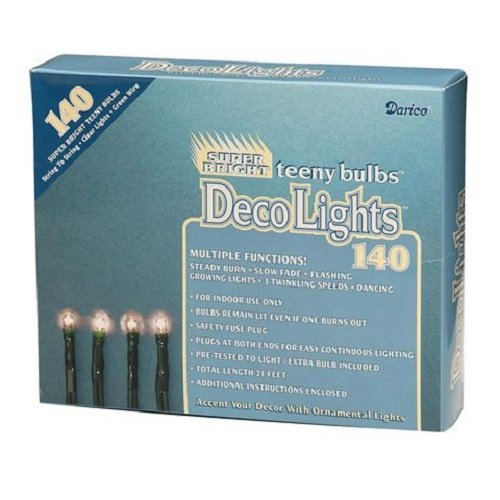 CWI LT1402 Multiple Function Teeny 140-Bulb Light Set (Collections Bulb)