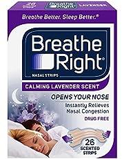 Breathe Right Lavender Tan Nasal Strips, 26 Count