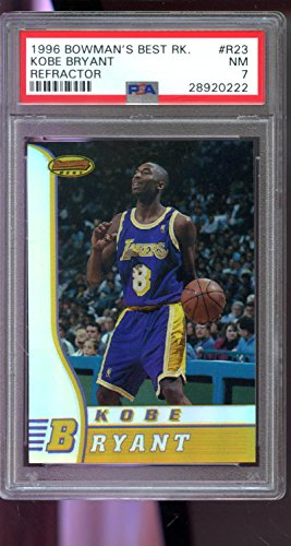 1996-97 Bowman's Best REFRACTOR R23 Kobe Bryant ROOKIE PSA 7 Graded Card Bowmans (Bowmans Best Football Box)