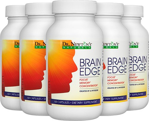 Brain Edge - Nutrients to Maintain Memory, Clarity, and Mental Edge by Dr. Newton's Naturals