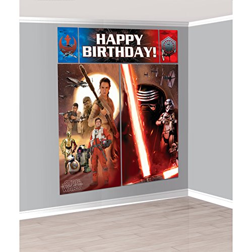 Star Wars Episode VII Scene Setter Wall Decorating Kit, Birthday