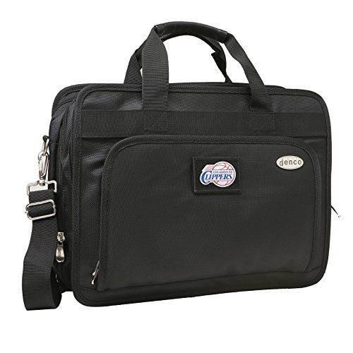 NBA Los Angeles Clippers Expandable Laptop Briefcase, 13-Inch, Black by Denco
