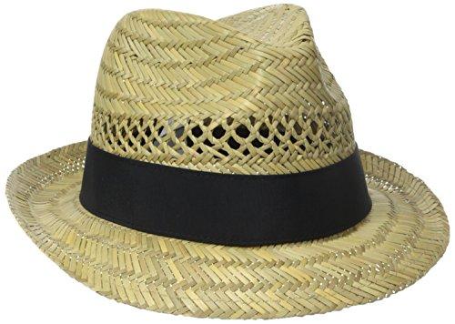Columbia Women's Sun Drifter Straw Hat,Natural/Black Solid,Small/Medium