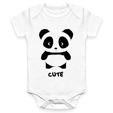 Coco Rascal/® Baby Boy Girl Cute Panda Animal Cotton White Bodysuit Grow Vest 0-18 Months