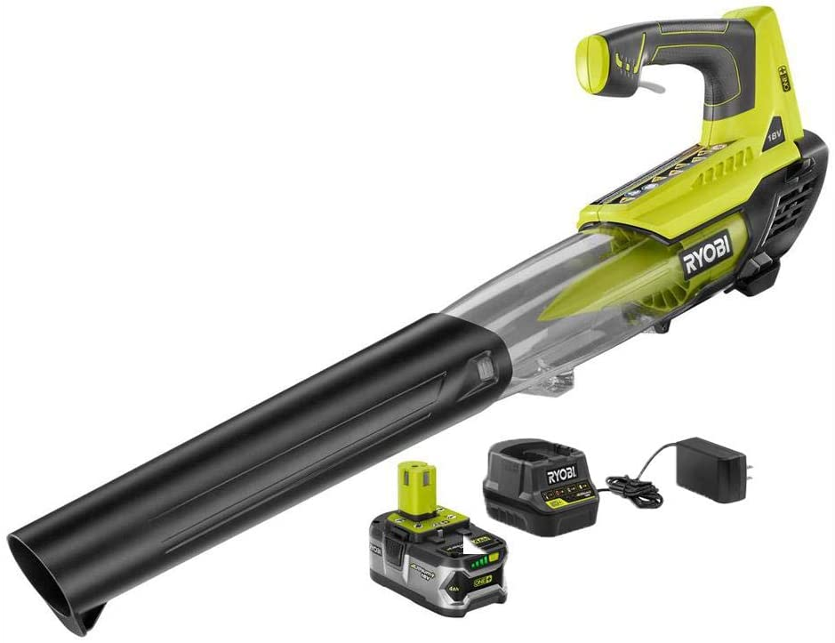 RYOBI ONE+ 100 MPH 280 CFM Variable-Speed 18-Volt Lithium-Ion Cordless Jet Fan Leaf Blower