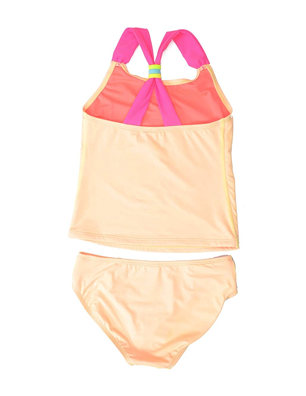 Colorful Kids Tankini Bathing Suit with Bottom LEINASEN Two Piece Swimsuits for Girls