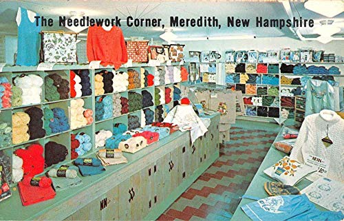 (Meredith New Hampshire Needlework Corner Interior Vintage Postcard K107701)