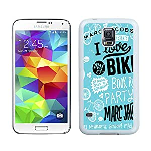 Samsung Galaxy S5 G9008V Marc by Marc Jacobs 16 White Cellphone Case Handmade and Luxury Design