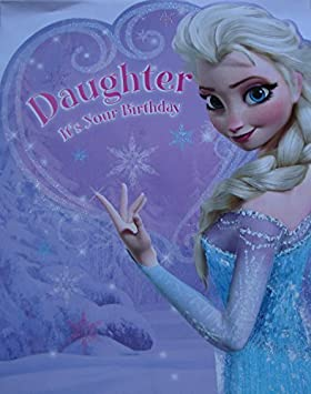 Disney Frozen Extra Large Daughter Birthday Card Amazoncouk