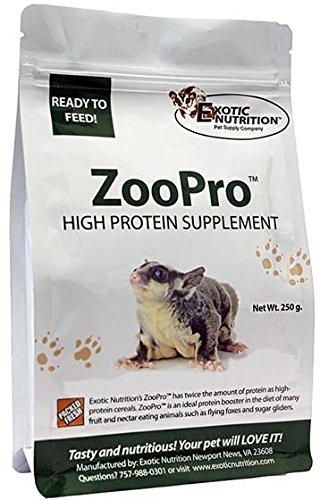 (Exotic Nutrition Zoopro High Protein Supplement for Sugar Gliders 8.82 oz.)