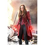 Captain America: Civil War Elizabeth Olsen as Scarlet Witch Looking VERY Angry 8 x 10 inch photo