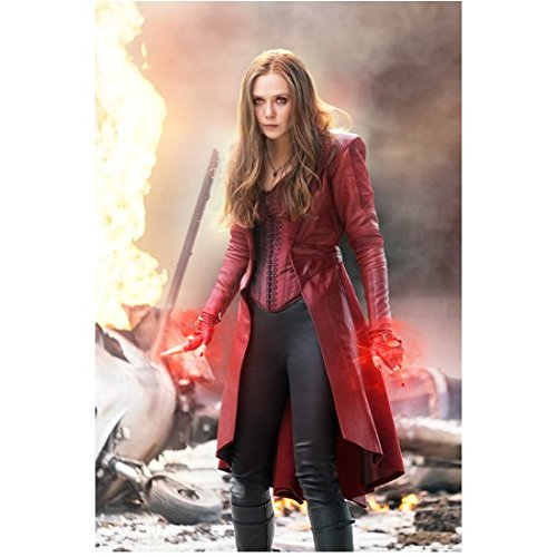 Elizabeth Real Photo - Captain America: Civil War Elizabeth Olsen as Scarlet Witch Looking VERY Angry 8 x 10 inch photo