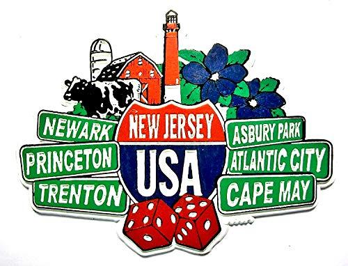 New Jersey Street Signs Fridge Magnet (New Fridge Jersey Magnet)