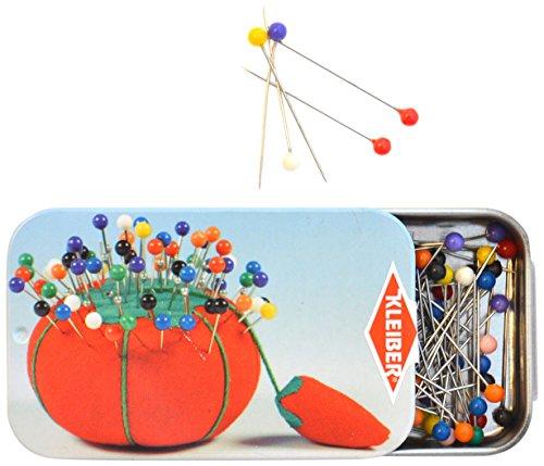 Kleiber Stecknadeln mit Kunststoffköpfen, mehrfarbig