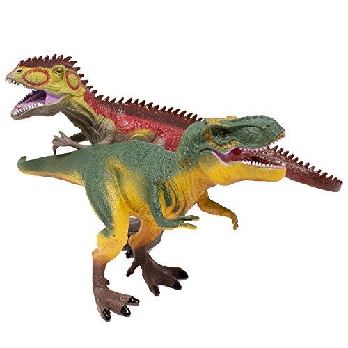 Boley 2 Piece T Rex Dinosaur Set - Roaring T Rex Figures - Realistic Detail
