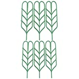 Plastic Plant Support,Povkeever Trellis Leaf Shape for Potted Plant Winding Climbing DIY Garden Green 6 Pack