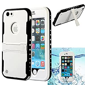 iPhone 6 Case, Caka Waterproof Shockproof Dirtproof Durable Full Sealed Protection Case Cover for Apple iPhone 6 4.7 Inch - White