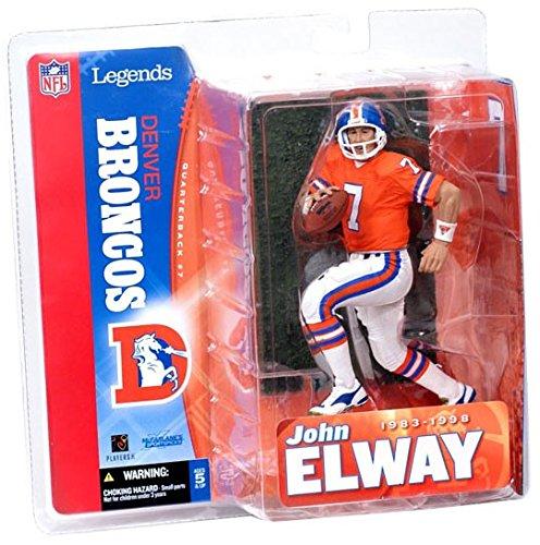 Broncos Denver Elway John (McFarlane Toys NFL Sports Picks Legends Series 1 Action Figure John Elway (Denver Broncos) Orange Jersey)
