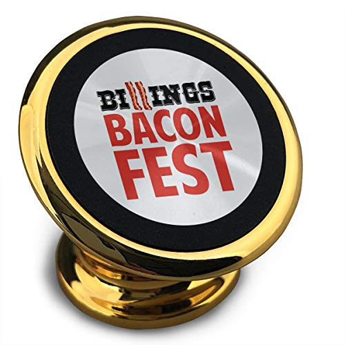 Universal Magnetic Phone Car Mounts Magnet Holder Billings Bacon Fest Magnetic Mount for Phone 360° Rotation ()